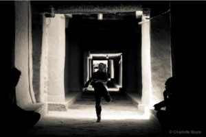 One of my favourite images. A boy dancing in the tunnels of El Khorbat